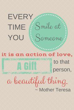 Power of a Smile - Free Printable - Meaningful Mama #PowerOfaSmile