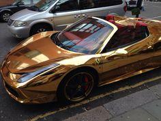 Gold Plated Ferrari [2 Pics] Au some! http://www.i-am-bored.com/bored_link.cfm?link_id=97227