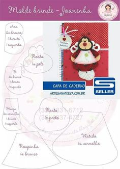 Joaninha FORRO DE CUADERNO