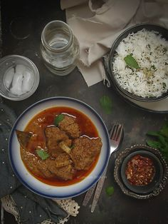 Rogan-Josh- Kashmiri Mutton Curry with Yogurt and Spices