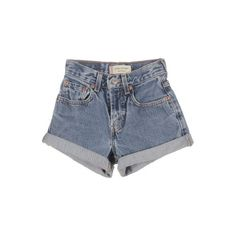Kid's Levi's Blue Denim Shorts W21 L9 ❤ liked on Polyvore featuring shorts, bottoms, denim shorts and short