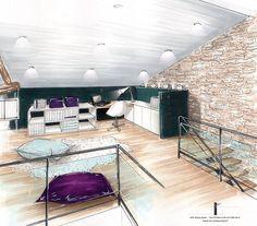 Cheap Home Decorations For Sale Architect Drawing, Architect Design, Mini Loft, Plans Architecture, House Sketch, Interior Sketch, Interior Decorating, Decorating Tips, House Design