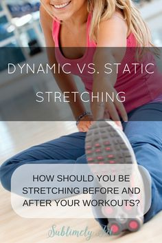 How should you stretch before and after your workouts? Learn more about static stretching and dynamic stretching. Yoga Moves For Beginners, Yoga Positions For Beginners, Running For Beginners, Static Stretching, Dynamic Stretching, Stretches For Flexibility, Yoga For Runners, How I Lost Weight, Tight Hip Flexors