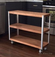 Ana White Build a Easiest Industrial Cart Free and Easy DIY Project and Furniture Plans Furniture Projects, Home Projects, Furniture Design, Furniture Stores, Bar Furniture, Metal Projects, Furniture Outlet, Kitchen Furniture, Luxury Furniture