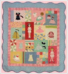 Paper doll quilt for Pine Needles