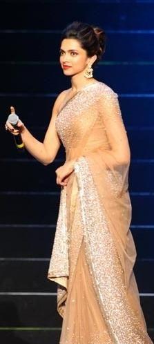 Deepika Padukone in Stunning Saree by Manish Malhotra at IPL