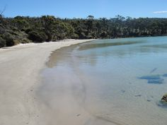 Magnificent beaches and crystal clear waters around Cape Labillardiere, Bruny Island, Tasmania
