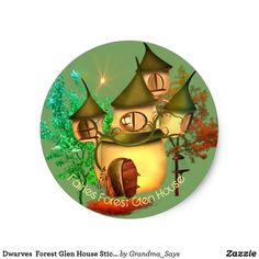 Dwarves  Forest Glen House Stickers