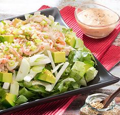 Avocado Salad Center I Avocados From Mexico Salad Recipes Healthy Lunch, Avocado Salad Recipes, Easy Salads, Healthy Salad Recipes, Homemade Honey Mustard, Best Vitamin C, Party Food Platters, Mexican Food Recipes, Ethnic Recipes
