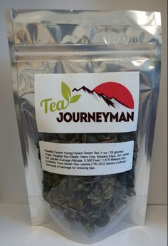 Radella Ceylon Young Hyson Green Tea One Ounce (28 g) Packet. Now available at http://www.teajourneymanshop.com.