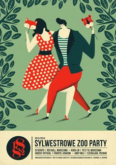 dworzec tatrzański bar & restaurant | posters by Dawid Ryski, via Behance