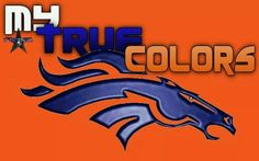 The broncos are the only reason why orange and blue look good together!