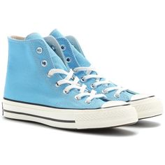 Converse Chuck Taylor All Star 70 High-Top Sneakers found on Polyvore featuring shoes, sneakers, converse, footwear, high top trainers, high top sneakers, converse high tops, converse shoes and blue high top sneakers