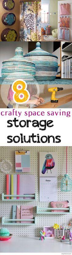 8 Crafty Space Saving Storage Solutions -