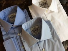 Solid Light Blue Tailored Executive Shirt High Collar Shirts, Savile Row, Light Blue, London, Pastel Blue, London England, Light Blue Color