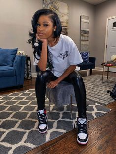 baddie outfits for school Swag Outfits For Girls, Chill Outfits, Cute Swag Outfits, Teen Fashion Outfits, Dope Outfits, Trendy Outfits, Summer Outfits, Jordan Outfits, Looks Hip Hop