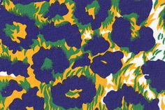 Fabric Finders, Inc. Print #1099-2 Purple/Gold