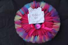 Prettiest Birthday Girl Tutu Set Toddler by PirouetteBoutique, $54.95