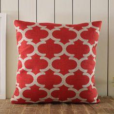 45*45cm Red Geometric Fynn Moroccan Linen Cushion Covers Pillow Case Decho http://www.amazon.com/dp/B00IG6O9CU/ref=cm_sw_r_pi_dp_GJUxub0GBR997