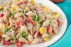 "A healthy twist to ""Pasta Salad"" and very colorful"
