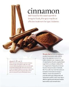 Cinnamon for Diabetes Type 2. Bareindulgence.net for moisturizers for dry skin.