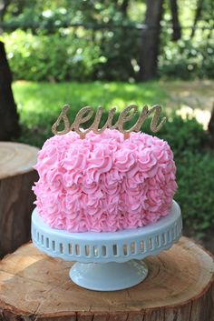 Beautiful rosette birthday cake! | CatchMyParty.com