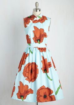 Biographical Book Club Dress in Poppies