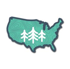 TriPine Topographic Decal (Mint)