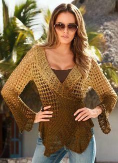 Ombré crochet cardigan Handarbeiten ☼ Crafts ☼ Labores  ✿❀⊱╮.•°LaVidaColorá°•.❀✿⊱╮  http://la-vida-colora.joomla.com