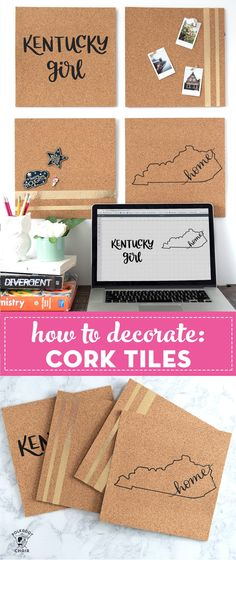 DIY Cork Board Made with Iron On Vinyl Diy Projects Room Decor, Cork Board Projects, Diy Cork Board, Diy Craft Projects, Cork Boards, Welding Projects, Diy Crafts Hacks, Diy Home Crafts, Diy Crafts To Sell