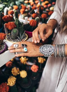 Turquoise Ring | Silver Ring | Black Onyx Ring | CACTI | St. Eve Jewelry |  @tezzamb