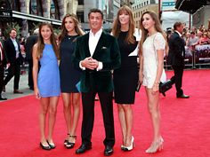 Sylvester Stallone shows off his gorgeous wife, Jennifer Flavin and daughters Scarlet, Sistine and Sophia