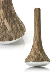 for wood + metal  (lathed Zebrawood + polished aluminium)