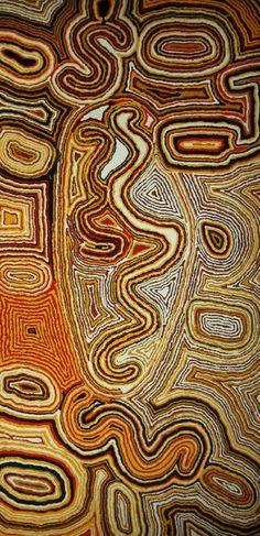 Tjumpo Tjapanangka - Wilkinba Near Lake Mackay  1993  120 x 59.5 cm