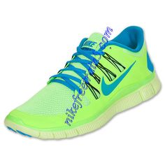 Buy The Cheap Nike Free 5.0 Mens Flash Lime Blue Hero 579959 340