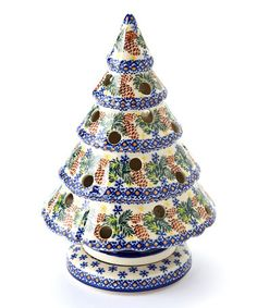 Take a look at this Pinecone Large Tree Candleholder by Lidia's Polish Pottery on #zulily today!