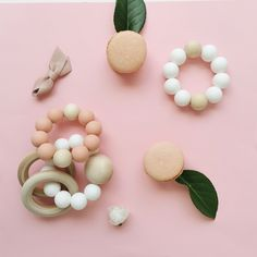 A beautiful blush flatlay of our Teethers