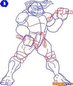 how-to-draw-michelangelo-from-the-tmnt-step-3