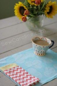 DIY placemat and napkins