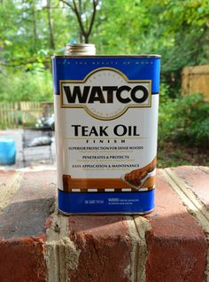 {Been There, Done That} Use Teak Oil on Outdoor Wood Furniture (Tung oil works too)