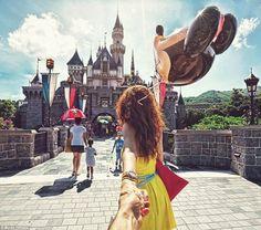 "Russian photographer Murad Osmann ""follows"" his girlfriend around the world - Photo Set. So cute."