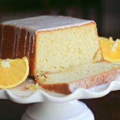 One of my favorite orange pound cake recipes from Ina Garten.