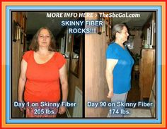 """Check out Stephanie's 90 Day challenge Results! Wow!   Stephanie says: """"I thought I had reached the end of my rope as far as weight loss. All my life I have been a yo-yo dieter going up and down and each time I went up heavier and heavier. I tried every diet pill and diet plan out there and nothing seemed to work. Then one day I was introduced to the Skinny Fiber. I was skeptical at first but then I thought what the heck - what did I have to lose. I was amazed at the results that I began to…"""