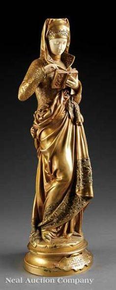 a jean verschneider 1872 1943 art nouveau figural bronze and alabaster table lamp art. Black Bedroom Furniture Sets. Home Design Ideas