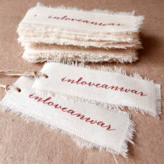Custom Linen Canvas Hang Tag · Fabric Hang Tag · 30 units by AugieStore on Etsy