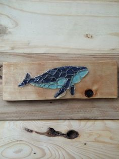 Sign of The Sea beach glass sea glass whale blue on by SignsOf, $40.00