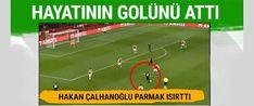 Milan forması giyen Hakan Çalhanoğlu, Arsenal maçında uzak mesafeden attığı golle dikkatleri üzerine çekti.