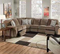 "discount Lane Megan 343 Sectional.  Comes in double reclining love seat (67"" w)  snuggler recliner (55""W)"