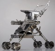 Steampunk baby stroller??? Now if I had a kid I'd have this what kid wouldn't want to see him self in this when they get older