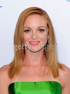Jayma Mayes, wearing our Noir Pave Hoops!